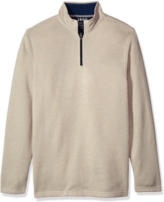 Izod Men's Big Saltwater Solid 1/4 Zip Sweater
