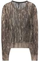 Saint Laurent Metallic loose knit pullover