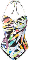 Mara Hoffman lace-up print swimsuit