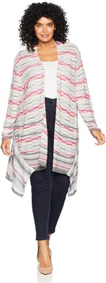 Nic+Zoe Women's Size Plus Color Mix Cardy
