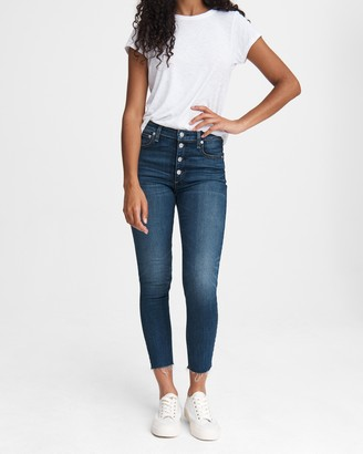 Rag & Bone Nina high-rise skinny - atlantic