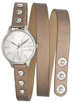 Lulu Castagnette 38740 Women's Watch Analogue Quartz Silver Dial Brown Leather Strap