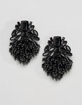 Asos Jet Bead Tassel Earrings