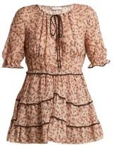 Altuzarra Kona Floral-print Silk-blend Blouse - Womens - Beige Print
