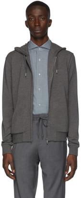 Ermenegildo Zegna Grey Jersey Zipped Hoodie