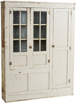 Rejuvenation Large White Primitive Cabinet
