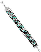 Lucky Brand Turquoise & Leather Bracelet