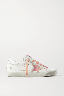 Golden Goose International Women's Day Superstar Distressed Printed Leather Sneakers - White