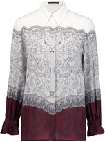 Mother of Pearl Ethel printed silk crepe de chine blouse