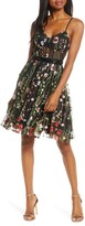 Mac Duggal Embroidered Fit & Flare Party Dress