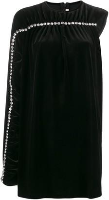 Christopher Kane Crystal Sleeve Velvet Dress