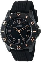 GUESS GUESS? Men's U0245G3 Rubber Quartz Watch with Dial
