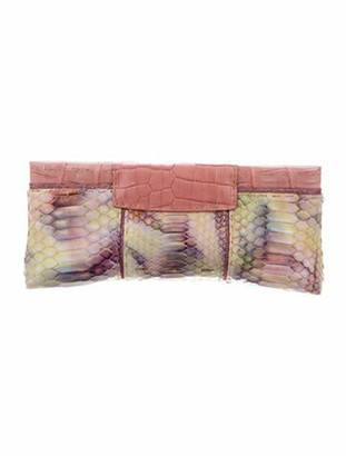 VBH Python Evening Clutch Pink