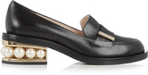 Nicholas Kirkwood Casati pearl-heeled leather loafer