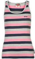 Lee Cooper Womens Stripe Vest Tank Top Sleeveless Crew Neck