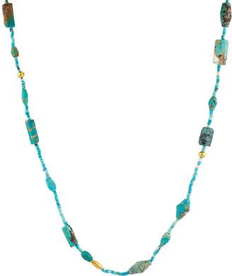 Gurhan Phoenician 24K & 18K 7.25 Ct. Tw. Turquoise Necklace