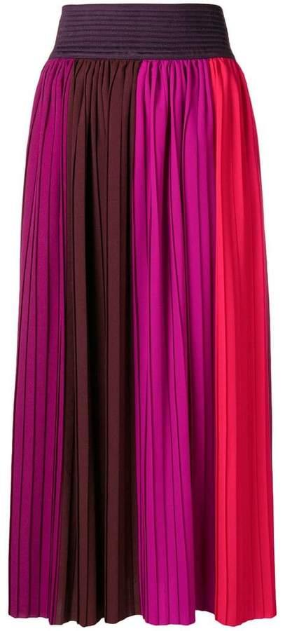 Altea high-waisted pleated skirt