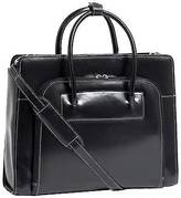 McKlein Ladies Leather Laptop Case with Removable Sleeve - Black