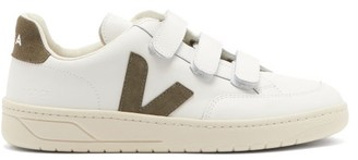 Veja V-lock Velcro-strap Leather Trainers - Khaki White