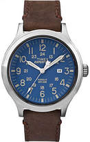 Timex Men's Expedition Scout 43 | Blue Dial Leather Strap Casual Watch TW4B06400