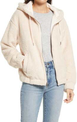 Andrew Marc Faux Shearling Hoodie