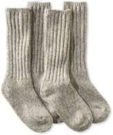 """L.L. Bean Merino Wool Ragg Sock, 12"""" Two-Pack"""