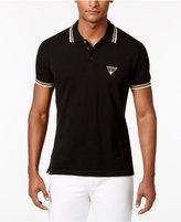 Versace Men's Contrast-Trim Cotton Polo