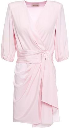 Alexandre Vauthier Draped Gathered Stretch-silk Mini Dress