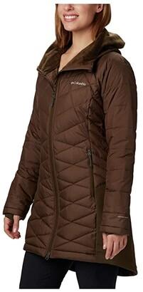 Columbia Heavenlytm Long Hybrid Jacket (Olive Green) Women's Coat