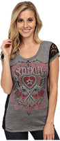 Affliction Pistola Del Sol Short Sleeve Scoop Neck Tee