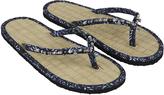 Accessorize Aleafi Beaded Seagrass Flip Flops