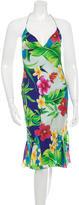 Ralph Lauren Silk Floral Print Dress