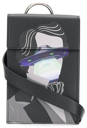 Valentino x Undercover Face UFO print pouch