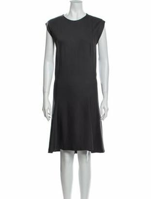 Brunello Cucinelli Crew Neck Knee-Length Dress Grey