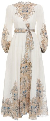 Zimmermann Freja Paisley Tea-Length Dress