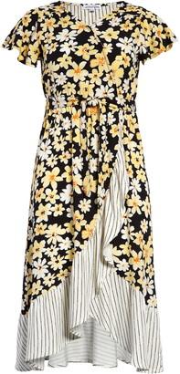 Ten Sixty Sherman Floral Print Faux Wrap Dress
