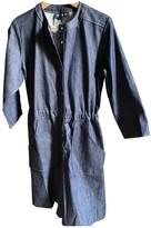 Vanessa Seward Blue Cotton Jumpsuit for Women