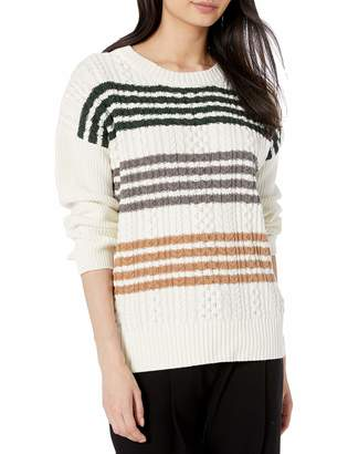 BCBGMAXAZRIA Women's Cable Knit Sweater