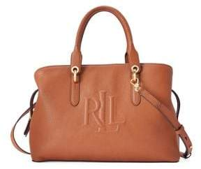 Lauren Ralph Lauren Hayward Leather Medium Satchel
