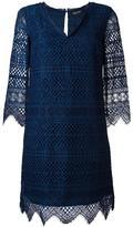 Twin-Set embroidered v-neck dress - women - Cotton/Viscose/Polyamide/Polyester - 44