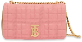 Burberry Leather Quilted Two-Tone Lola Bag