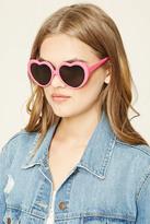 Forever 21 FOREVER 21+ Heart-Shaped Sunglasses