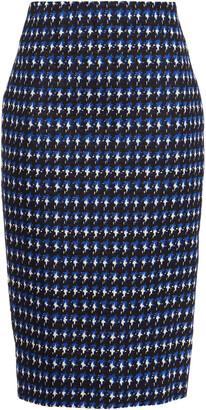 Victoria Beckham Houndstooth Stretch-cotton Jacquard Pencil Skirt
