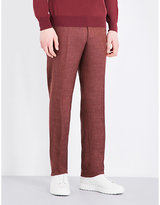 Canali Regular-fit Straight Wool-blend Trousers