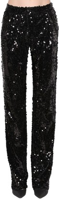 Act N�1 Sequin Embellished Straight Leg Pants