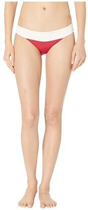 L-Space Color Block Veronica Bottoms (Black/Cream) Women's Swimwear