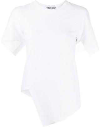 Comme des Garçons Comme des Garçons panelled asymmetrical T-shirt