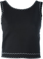McQ by Alexander McQueen embroidered sleeveless top