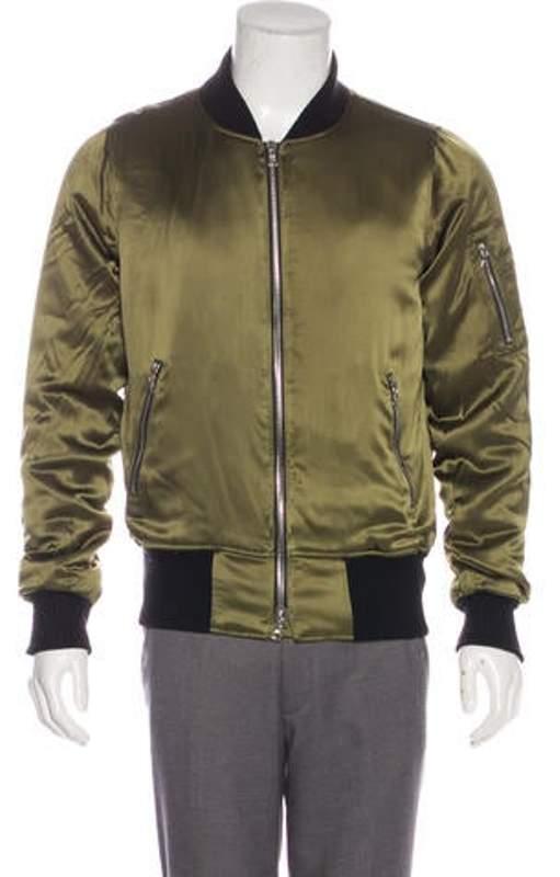 23547e60c Silk Bomber Jacket olive Silk Bomber Jacket