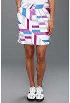 adidas Printed Geo Woven Skort '13 (White/Passionfruit/Blueberry/Chrome) - Apparel